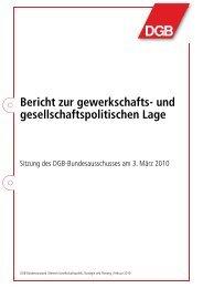 Bericht zur gewerkschafts- und gesellschaftspolitischen Lage - DGB ...