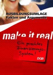 AUSBILDUNGSUMLAGE Fakten und Argumente ... - DGB-Jugend