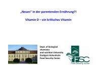 H.K. Biesalski: Update parenterale Ernährung (Vitamin D) - DGEM