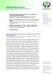 NEWSLETTER Mai 2012 - DGEM