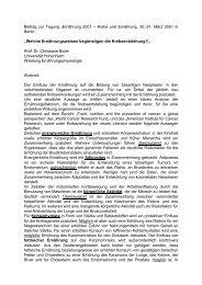 """Beitrag zur Tagung """"Ernährung 2001 – Krebs und ... - DGEM"""