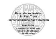 Bauchdeckeninzision im Fast Track immunologische ... - DGEM