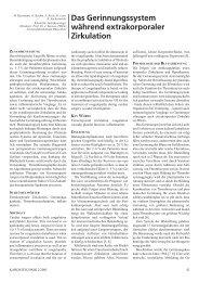 Das Gerinnungssystem während extrakorporaler Zirkulation