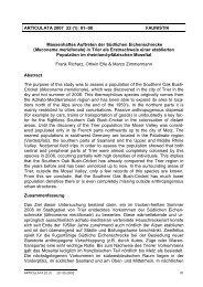 ARTICULATA 2007 22 (1): 81–90 FAUNISTIK Massenhaftes ...