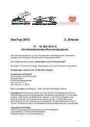 GeoTop 2012 3. Zirkular - DGG