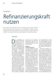 Refinanzierungs kraft nutzen - DG Hyp
