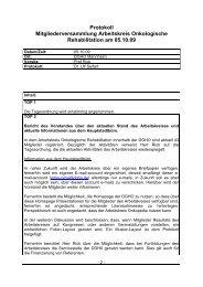 Protokoll vom 05.10.2009 - DGHO
