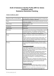 Draft of Substance Identity Profile