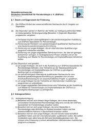 Stipendienordnung der DGParo - Deutsche Gesellschaft für ...