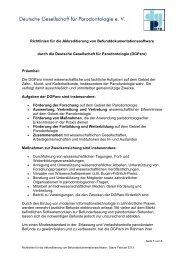 Richtlinien für die Akkreditierung von ...