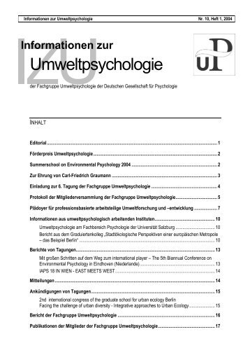 IzU 10 (1) - Juli 2004 (PDF) - DGPs