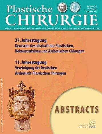 D57442 ISSN1618-6214 Supplement 1 6. Jahrgang ... - DGPRÄC