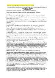 Individuelle Lern- und Entwicklungsbegleitung (ILEB)