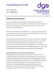 Positionspapier der dgs Bundesebene - Deutsche Gesellschaft für ...