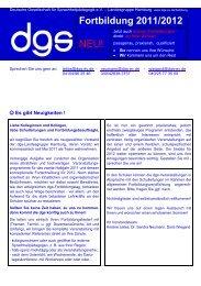 Fortbildungsprogramm - Deutsche Gesellschaft für ...