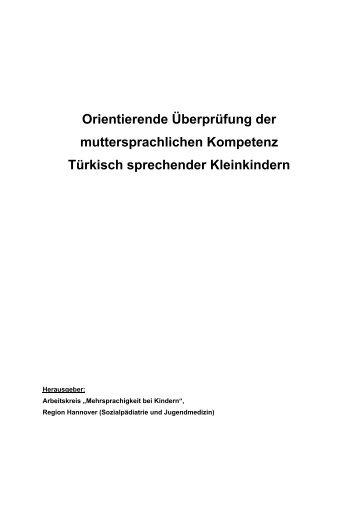 Orientierende Überprüfung der muttersprachlichen Kompetenz ...