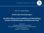 Berufliche Bildung – Hochschulbildung - DGWF