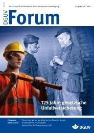 125 Jahre gesetzliche Unfallversicherung - DGUV Forum