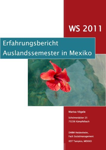 Marisa Vögele, Sozialmanagement - DHBW Heidenheim