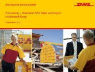 Anleitung CSV-Download und Excel-Import - DHL