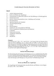 Grundordnung - Deutsche Hochschule der Polizei