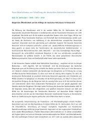 Vom Absolutismus zur Schaffung der deutschen Nationalmonarchie