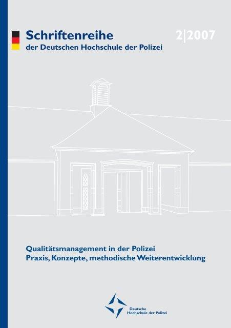 und Vorwort - Deutsche Hochschule der Polizei