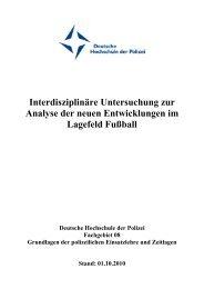 Abschlussbericht Lagebild Fussball - Deutsche Hochschule der ...