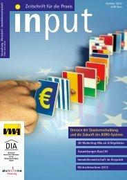input - Zeitschrift für die Praxis Ausgabe Sommer 2013 - DIA