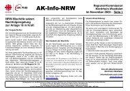 AK-Info-NRW November 09 - DIAG - MAV Freiburg
