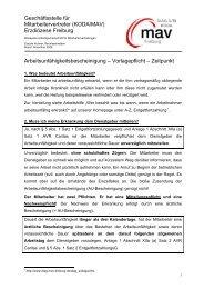 Arbeitsunfähigkeitsbescheinigung - Vorlagepflicht - DIAG - MAV ...