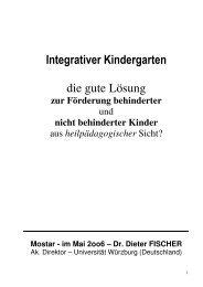 Integrativer Kindergarten die gute Lösung - Evangelisches ...