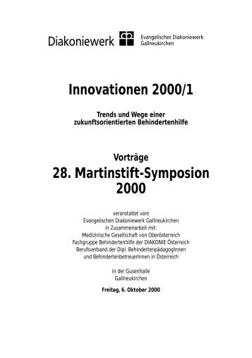 Innovationen 2000/1 28. Martinstift-Symposion 2000