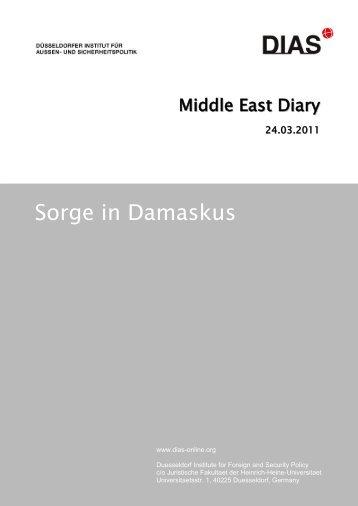 Sorge in Damaskus - DIAS - Düsseldorfer Institut für Außen