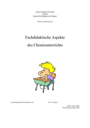 Fachdidaktische Aspekte des Chemieunterrichts - Dickhaeuser.de