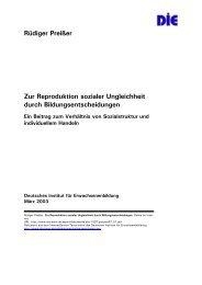Rüdiger Preißer Zur Reproduktion sozialer Ungleichheit durch ...