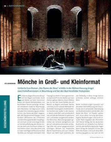 Mönche in Groß- und Kleinformat - Die Deutsche Bühne
