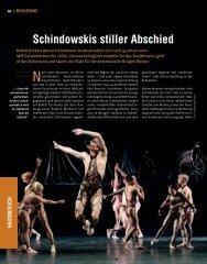 Schindowskis stiller Abschied - Die Deutsche Bühne