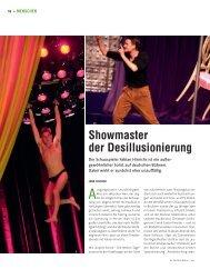 Showmaster der Desillusionierung - Die Deutsche Bühne