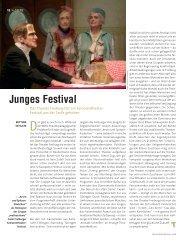 Junges Festival - Die Deutsche Bühne