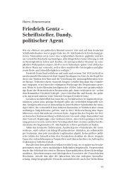Friedrich Gentz – Schriftsteller, Dandy, politischer Agent - Die Horen