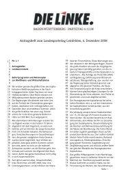 Antragsheft 1 - DIE LINKE Baden-Württemberg