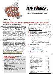 Mittenmang April 2013 - DIE LINKE in Hamburg-Mitte