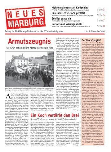 2003, November - DIE LINKE Marburg-Biedenkopf