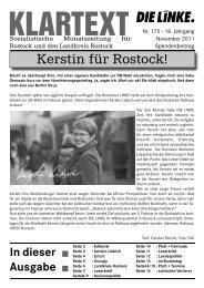 November 2011.indd - DIE LINKE. Rostock