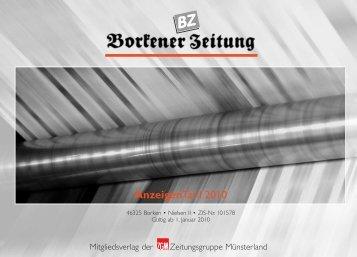 AnzeigenTarif 2010 - Die-Zeitungen.de