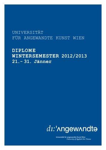 Diplombroschüre Wintersemester 2012/13 - Universität für ...