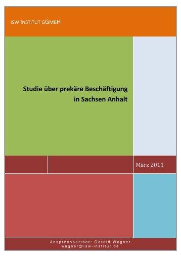 Studie zu prekärer Beschäftigung in Sachsen-Anhalt - Die Linke ...