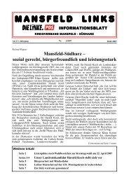 2/2007 - DIE LINKE. Kreisverband Mansfeld-Südharz