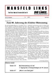 Ausgabe Februar 2013 - DIE LINKE. Kreisverband Mansfeld-Südharz